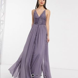 ASOS Tall ruched bodice maxi dress